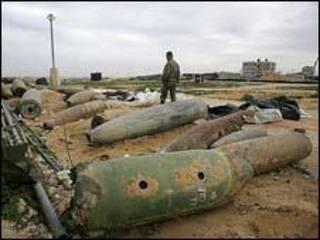 Bombas que não explodiram em Gaza