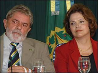 Presidente Luis Inácio Lula da Silva e ministra DIlma Rousseff (Foto: José Cruz/ABr)