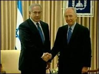 Benjamin Netanyahu e Shimon Peres