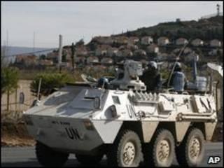 سربازان سازمان ملل در مرز اسرائیل و لبنان