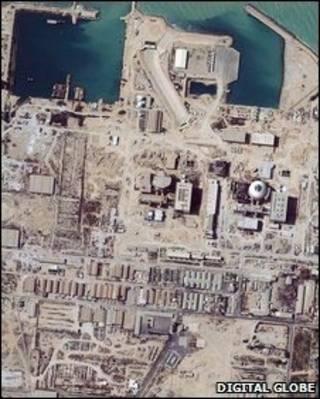 Imagem de satélite da usina de Bushehr, feita em 2004 (arquivo)