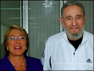 Ông Castro và Tổng thống Chile