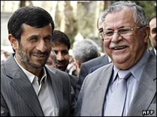 طالبانی و احمدی نژاد