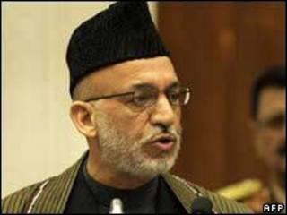 O presidente do Afeganistão, Hamid Karzai