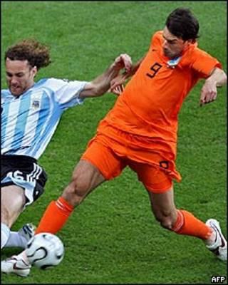 O jogador holandês e do Manchester United Ruud Van Nistelrooy