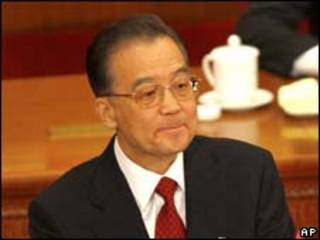 O primeiro-ministro chinês, Wen Jiabao, durante discurso nesta quinta-feira (AP)