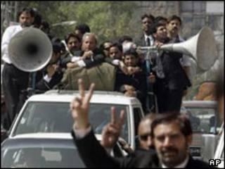 تظاهرات طرفداران حقوقدانان در پنجاب