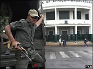 Soldado na capital de Madagascar (arquivo)