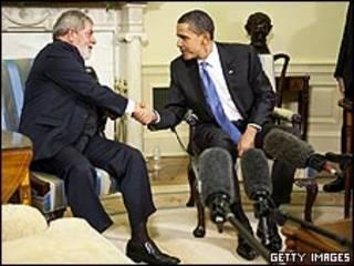LUiz Inácio Lula da Silva e Barack Obama em Washington