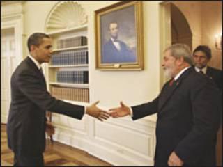 Barack Obama e Luiz Inácio Lula da Silva (Foto: Ricardo Stuckert/PR)