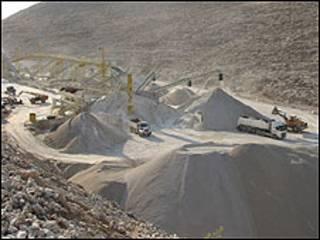 Pedreira na Cisjordânia (Foto: Dror Etkes, Yesh Din)