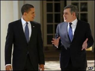 براون و اوباما