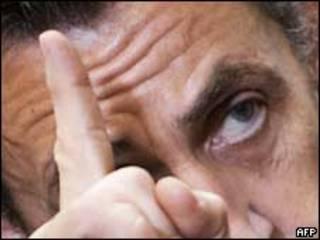 O presidente da França, Nicolas Sarkozy