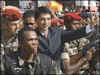 O presidente de Madagascar, Andry Rajoelina