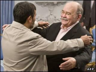 دسکوتو و احمدی نژاد در تهران