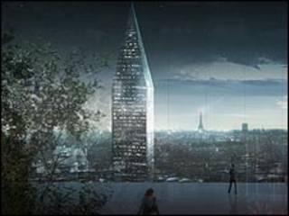 Balcón diseñado por Jean Nouvel