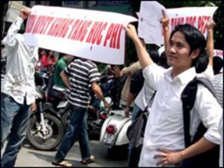 Sinh viên trường Hồng Bàng phản đối học phí tăng
