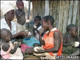 Família na África