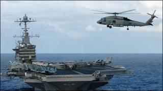 Chiến hạm Mỹ trên Thái Bình Dương