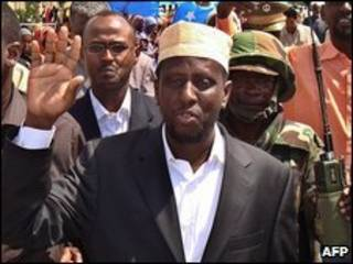 O presidente da Somália, Sheikh Sharif Sheikh Ahmed