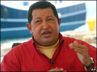 o presidente venezuelano, Hugo Chávez