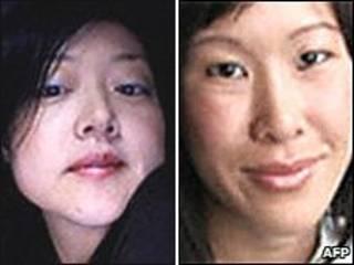 Hai phóng viên Euna Lee (trái) và Laura Ling
