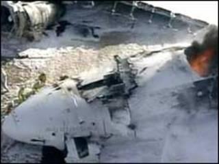 هواپیمای ساقط شده در ژاپن