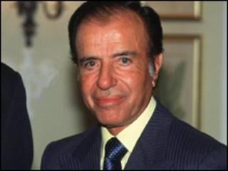 O ex-presidente da Argetina Carlos Menem