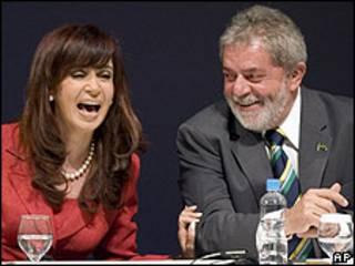 Cristina Fernández y Luiz Inacio Lula da Silva