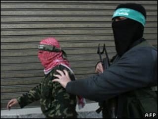 پیکارجویان حماس در شهر غزه، 19 ژانویه 2009