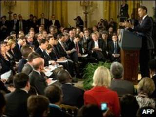 اوباما در کاخ سفید