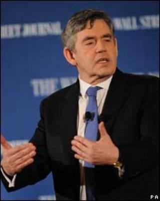 O primeiro-ministro da Grã-Bretanha, Gordon Brown