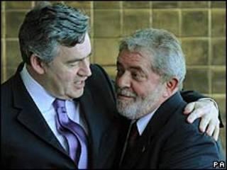 Gordon Brown y Lula da Silva