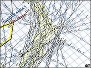 """""""Mapa de peligro"""", según Japón, EE.UU. y Corea del Sur"""