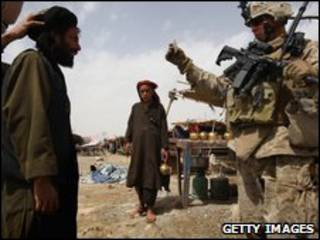 Patrulha americana no sul do Afeganistão