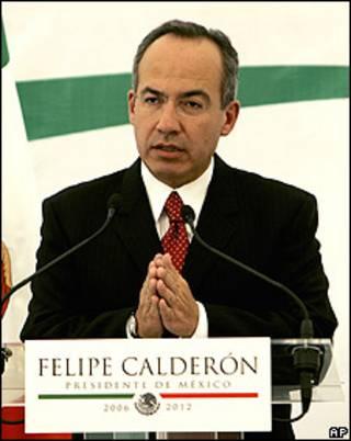 El presidente mexicano, Felipe Calderón