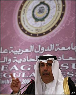 Reunión de la liga árabe.