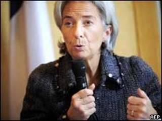 Christine Lagarde, ministra das Finanças da França