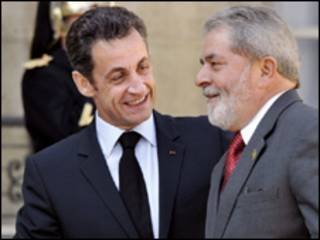 Presidentes Lula e Sarkozy (arquivo)