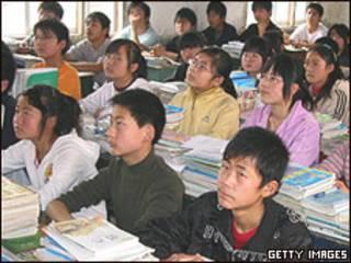 Escola na China (arquivo)