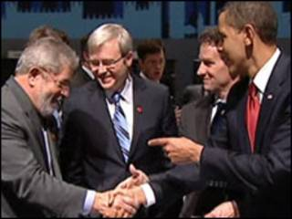 Obama e Lula no G20 em abril de 2009