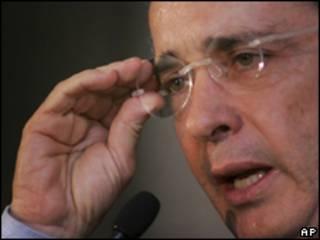 O presidente da Colômbia, Álvaro Uribe. Foto: AP