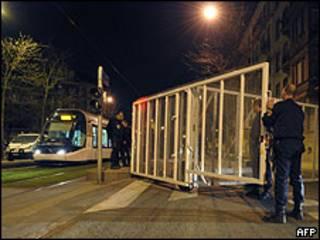Policiais em Estrasburgo