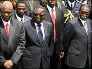 Thủ tướng Morgan Tsvangirai và tổng thống Robert Mugabe