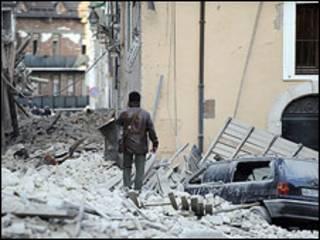 Cảnh sau khi động đất