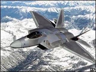 Avión del tipo F-22