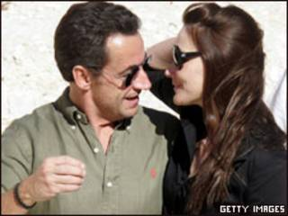 Nicolas Sarkozy e Carla Bruni (arquivo)
