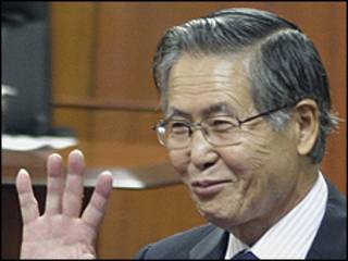 Alberto Fujimori em tribunal nesta terça-feira/AP