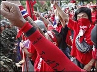 Manifestaciones en Tailandia