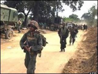 ارتش سریلانکا در شمال کشور